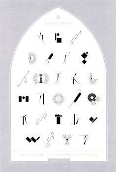HOLON タイポグラフィ作品展  スクリプトリウム@森岡書店
