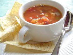 Amazing Chicken Tortilla Soup #triedandtrue Add rinsed black beans