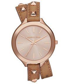 Gold Rush! Love this MICHAEL KORS wrap bracelet watch.