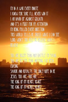 King of my heart lyrics Love and the outcome