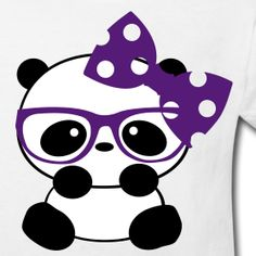 Panda Cute with Bow Kid Shirt Niedlicher Panda, Cartoon Panda, Cartoon Monsters, Panda Love, Cute Panda, Cute Cartoon, Panda Themed Party, Panda Party, Kawaii Drawings