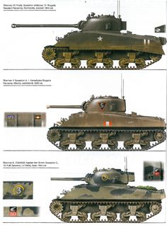 Sherman Tanks, Polish 1st Armoured Division (10 Brygada Kawaleri Pancernej).
