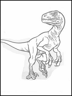 Kleurplaat Jurassic World Indominus Rex Jurassic Park Velociraptor Coloring Page Jurassic Park