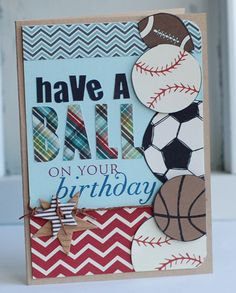 Betsy-Have-a-Ball-Card using Fancy Pants Little Sport collection. Awesome sport card!