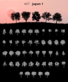 Tree Silhouettes vol.7 - Japan 1 by Horhew