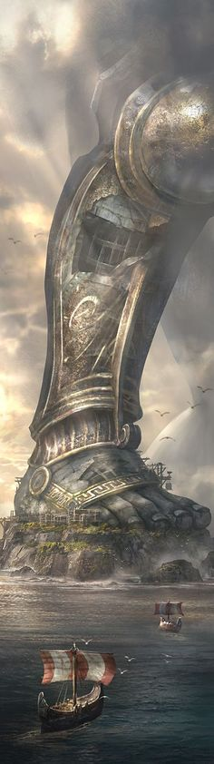 Cliff Childs ( American) The Colossus of Rhodes - a statue of the Greek Titan - god of the sun Helios, 2012