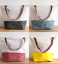 Color Block Linen Tote   Women's Bags & Accessories   Thread & Paper   Scoutmob Shoppe   Product Detail