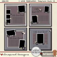 I LOVE TEMPLATES: Template Pack 10