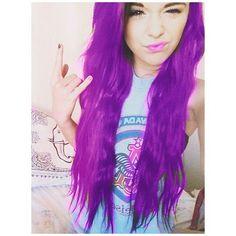 made this mahself I colored her hair purple!!