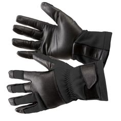 5.11's gauntlet length, Tac NFOE2 Flight Glove, features a seamless goatskin palm & knuckle reinforcement for durability and comfort. This glove is GSA compliant and provides protection from flash hazards in tactical environments.