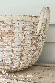 white splint basket - Miss Mustard Seed
