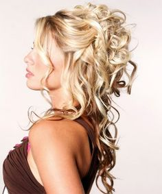formal hairstyles down how to curl long curly hair Beautiful Stylish New Wedding Hair Style Collection 2014 Down Curly Hairstyles, Unique Braided Hairstyles, Prom Hairstyles For Long Hair, My Hairstyle, Formal Hairstyles, Girl Hairstyles, Bridal Hairstyles, Hairstyle Ideas, Grecian Hairstyles
