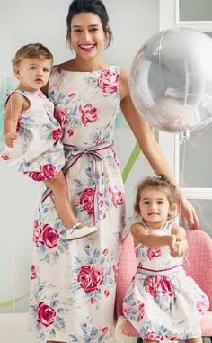 2018 marks our Birthday, so we're celebrating in style with limited edition, collectable pieces to mark the occasion. Here's a perfect party frock in beautiful Birthday Rose cotton - matching women's and baby's versions are also available. Mom Daughter Matching Outfits, Mom And Baby Outfits, Family Outfits, Mom And Baby Dresses, Cath Kidston Clothes, Cath Kidston Dresses, Kids Dress Wear, Mom Dress, Floral Frocks