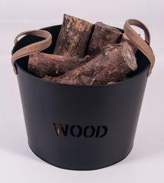 """Brettington"" Powder Coated Iron Wood Basket - Log Baskets & Log Holders - Fireplace Accessories - Catalogue : Black Country Metalworks Ltd"