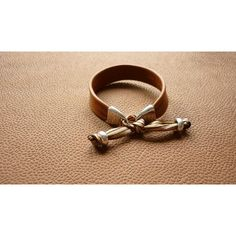 Bracelet cuir agneau CAMEL modèle SOFKO