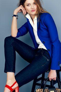 azul klein, azul cobalto, azulino, azul eléctrico. Read more at http://www.divinaejecutiva.com/2014/06/divitips-30-formas-de-usar-un-saco-azul.html#Mb5kLiFamyODaM37.99