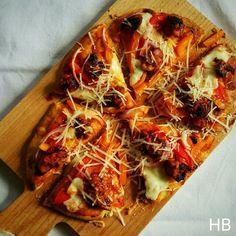 BBQ-chicken pizza uit Chef met lef van Nigel van der Horst