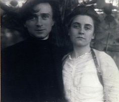 Edward Steichen, Self-portrait with Artist's Wife, Clara Smith, 1903
