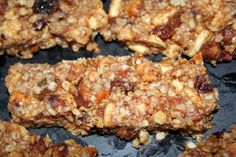 Granola Bar, NoMeatAthlete (garbanzos, cinnamon, sugar, oats, whole grain cereal, dried fruit, peanut butter, honey, oil, flax)