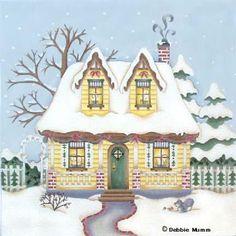 Melissa Shirley Designs   Hand Painted Needlepoint   Candlelight Cottage © Debbie Mumm