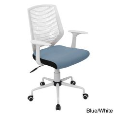 Modernize your office or study room with this Network contemporary office chair from LumiSource. This swivel office chair easily moves around the room with a five-wheel painted metal base and durable
