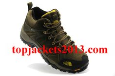 The North Face Outlet Mens Gore Tex Shoe Brown Yellow