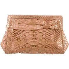 Nancy Gonzalez Python Clutch ($295) ❤ liked on Polyvore featuring bags, handbags, clutches, metallic, snake print handbag, nancy gonzalez, woven purse, woven handbags and metallic purse