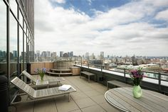 Terrace - Duplex Penthouse in Astor Place Tower by Charles Gwathmey and Robert Siegel
