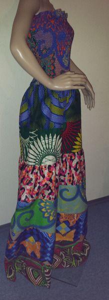 Maxikleider - Gypsy AfrikaKleid - ein Designerstück von Nafula-Lilian bei DaWanda