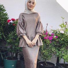 Image may contain: 1 person Hijab Gown, Kebaya Hijab, Kebaya Dress, Kebaya Muslim, Muslim Dress, Hijab Outfit, Islamic Fashion, Muslim Fashion, Modest Fashion
