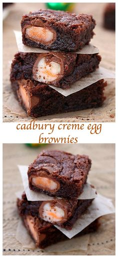 Cadbury creme egg brownies Rich, fudgy and totally addictive, these Cadbury creme eggs brownies will be the first to disappear from your Easter table. The ultimate Easter dessert! Cupcakes, Cupcake Cakes, Yummy Treats, Sweet Treats, Yummy Food, Healthy Food, Healthy Recipes, Easter Recipes, Holiday Recipes