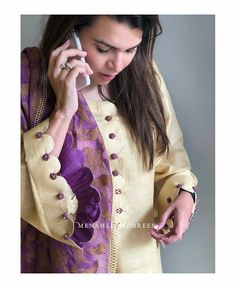 Kurti Sleeves Design, Kurta Neck Design, Sleeves Designs For Dresses, Dress Neck Designs, Blouse Designs, Sleeve Designs For Kurtis, Salwar Designs, Kurti Designs Party Wear, Trendy Dresses