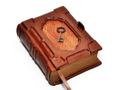 Small leather journal Blank diary Secret notebook  by dragosh