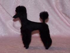 Poodle needle felted dog   cute!
