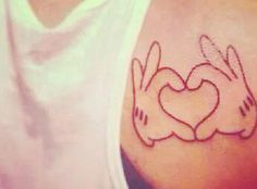 Cute Micky mouse tattoo