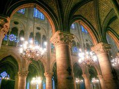 Inside of Notre Dame de Paris #NotreDame #Paris #Cathedrals