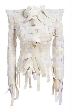 Martin Margiela.  YES!  I am doing something just like this right now!  How awesome to see another truly woven item.