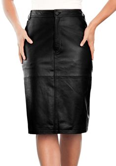 Leather Pencil Skirt | Plus Size Skirts | Jessica London