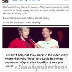This is amazing! I cried reading this! Louis you are a fantastic friend and this is the sweetest thing I have ever heard! :') #letniallsing