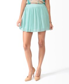 Knife Pleated Skirt in Mint. Also looks good in Rose with a mint blouse.
