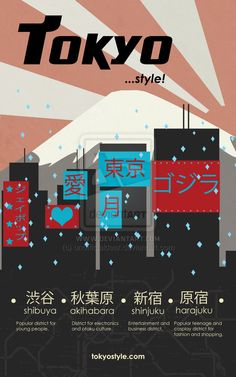 Tokyo Tourism Poster  by ~unofficialdear