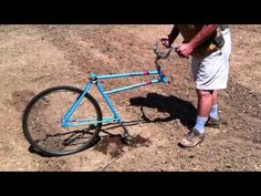 Bicycle Garden Plow home made - YouTube