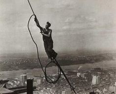 New York Construction Pictures Of Empire State Building by photographer Charles C Ebbets