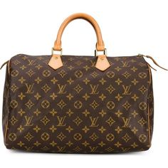 Louis Vuitton Vintage 'Speedy 35' tote ($1,425) ❤ liked on Polyvore featuring…