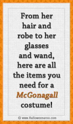 Everything you need for a McGonagall costume
