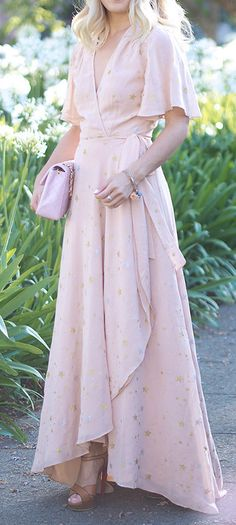 Starry blush dress