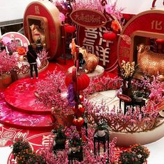 Chinese New Year in Hong Kong #hongkong #landscape #flowers #red #pink #decorations #buildings