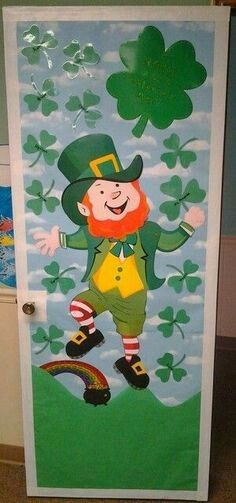 St Patrick\u0027s Day & Easter school door decoration | doors for school | Pinterest ...