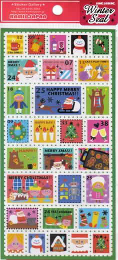 Christmas stamps for Santa letter