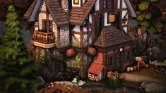 """missrubybird: """" Aunt Klara's House Here's another build I made a while back that is kinda Halloweeny/Autumnal and so I thought now's the perfect time to share! • 20x20 • no cc • 2 floors • 2..."""